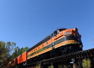 Photo of train from below