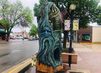 One of Bemidji's many sculptures in downtown Bemidji